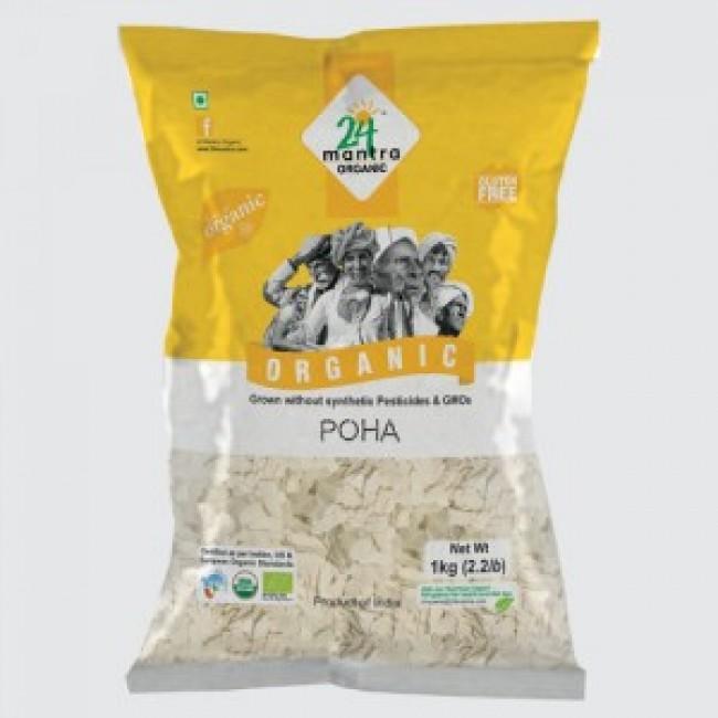 24 Mantra White Poha 500 GMS