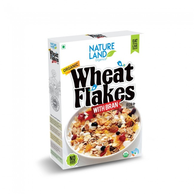 Natureland Organics Wheat Flakes 250 Gm