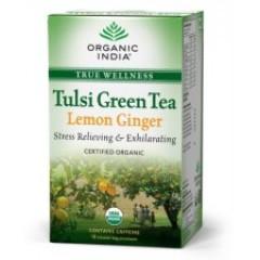 Tulsi Green Tea Lemon Ginger 18 Tea Bags