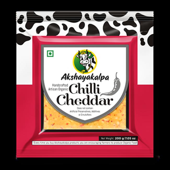 Akshayakalpa Organic Chilli Cheddar 200G