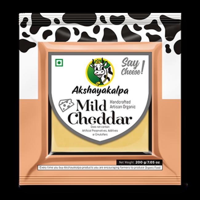 Akshayakalpa Organic Mild Cheddar 200G