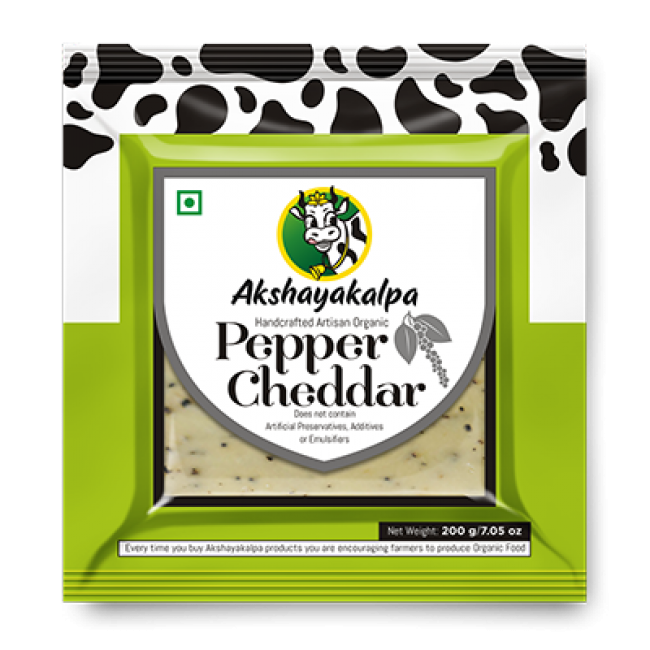 Akshayakalpa Organic Pepper Cheddar 200G